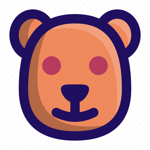Animal, bear, grizzly, head, polar, wild icon - Download on Iconfinder