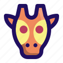 animal, face, giraffe, safari, zoo icon