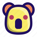 animal, face, koala, marsupial, wombat icon