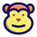 animal, ape, chimp, face, monkey, primate icon