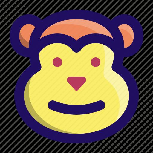 animal, ape, chimp, face, monkey, primate icon