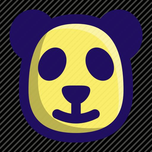 animal, bear, head, mammal, panda, zoo icon