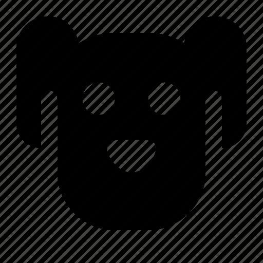 animal, dog, doggy, face, pet, puppy icon