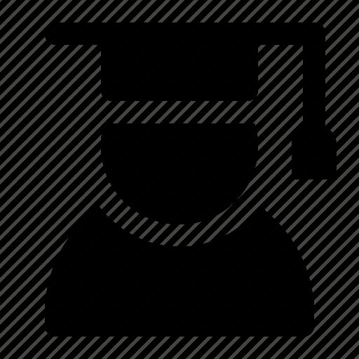 avatar, graduate, graduation, scholar, student, university icon