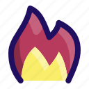 burn, fire, flame, heat, hot icon