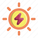 electricity, energy, power, solar, sun icon