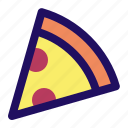 food, junk, pepperoni, pizza, slice, snack icon