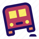 bump, bus, car, off, road, slow icon