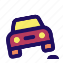 bump, car, off, road, slow, vehicle icon