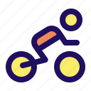 bike, biker, man, motor, motorcycle, ride icon