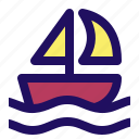 boat, ketch, sailboat, sloop, water, yacht icon