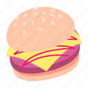 burger, dinner, fast, food, lunch, meal, snack icon