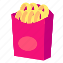 fast, food, lunch, meal, onion, ring, snack icon
