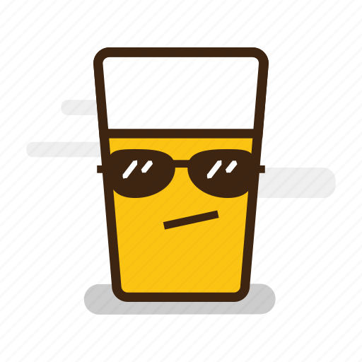 alcohol, beer, cool, emoji, emoticon, expression, froth, glass, goggles, sunglasses icon
