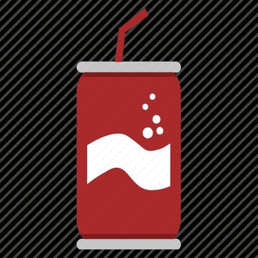 Beverage, can, coke, cola, drink, junk food, soda icon ...