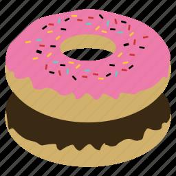 dessert, donut, doughnut, dunkin donuts, junk food, mister donut, sweet icon