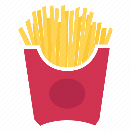 finger chips, french fries, fried, fries, junk food, kfc, mcdonald icon