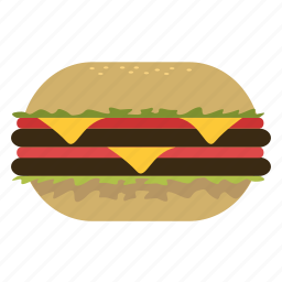 burgerking, eating, food, hamburger, happy meal, junk food, lunch icon
