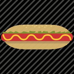breakfast, food, hotdog, junk food, lunch, meal, yummy icon