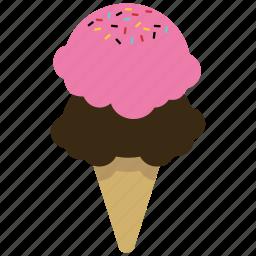 baskin robbins, cone, dessert, food, ice cream, junk food, sweet icon