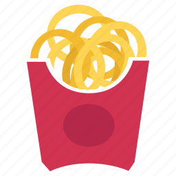 food, junk food, lunch, mcdonald, meal, onion ring, snack icon
