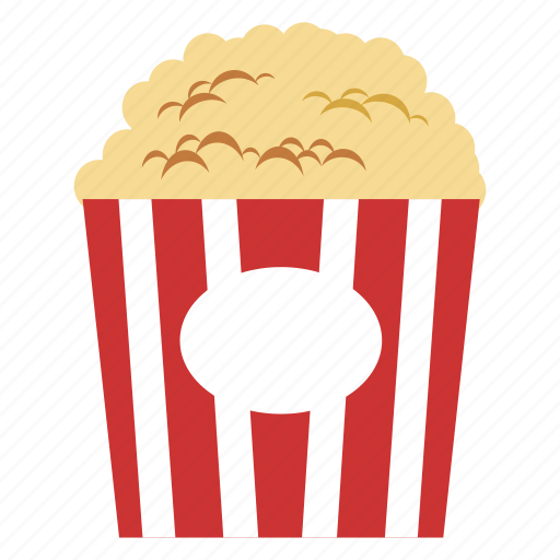 food, junk food, movie, party, popcorn, snack, sweet icon