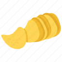 chip, food, junk food, potato, potato chips, pringles, snack icon