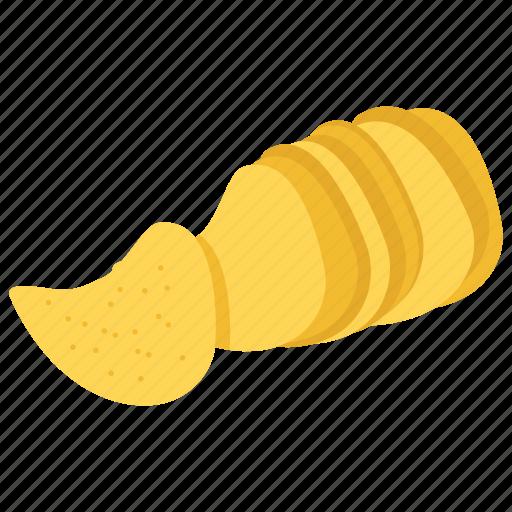 chip, food, junk food, potato, potato chips, pringles, snack icon