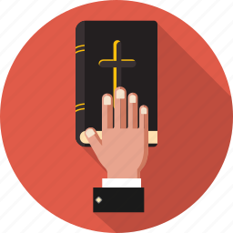 bible, catholic, christian, court, cross, hand, religion icon