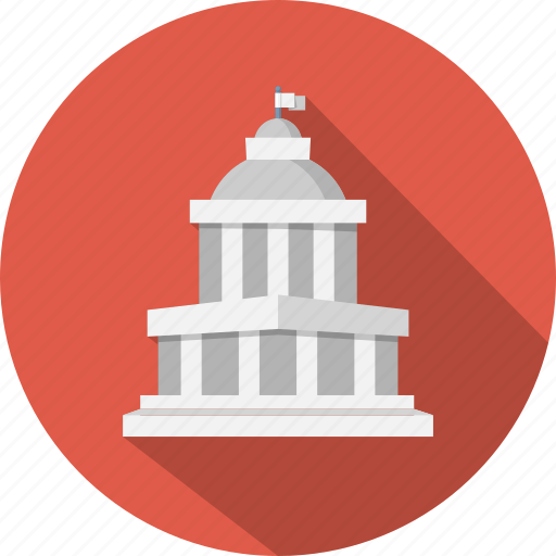 building, business, capitol, courthouse, estate, government, tribunal icon