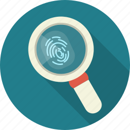 biometric, fingerprint, identification, password, person, secure icon