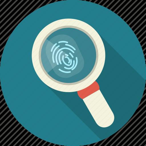 biometric, fingerprint, identification, password, person, secure icon