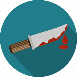 blood, crime, cut, gear, knife, tool, weapon icon