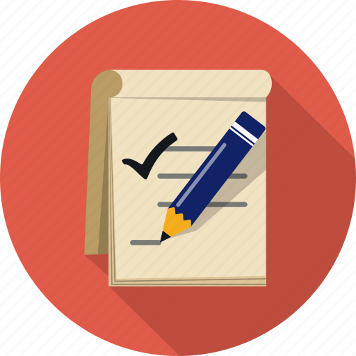 business, checklist, notebook, pen, report, survey, to do icon