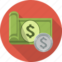 currency, money, cash, dollar, finance, business, bank icon