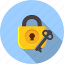 padlock, security, key, safe, protection, password, business icon