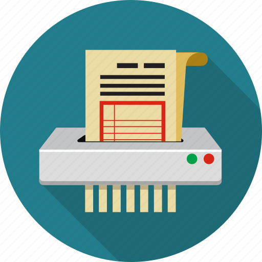 cut, destroy, document, machine, paper, recycle, shredder icon