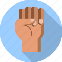 fist, hand, anger, demonstration, freedom, gesture, up icon