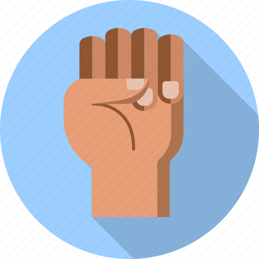 anger, demonstration, fist, freedom, gesture, hand, up icon