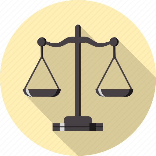 balance, equal, gavel, heavy, justice, measure, scale icon