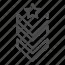 military, rank, epaulets, army, arrow, star, achievement