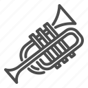 trumpet, sound, music, instrument, bend, button, pipe