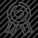 quality, medal, best, award, heart, ribbon, love