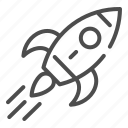 rocket, ship, space, spaceship, flame, launch, speed