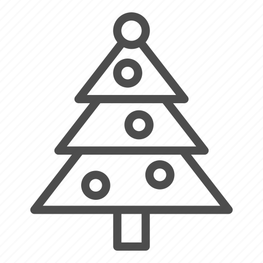 Tree, christmas, decoration, holiday, fir, ball, toy icon - Download on Iconfinder