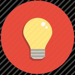 bulb, creative, electric, idea, lamp, light icon