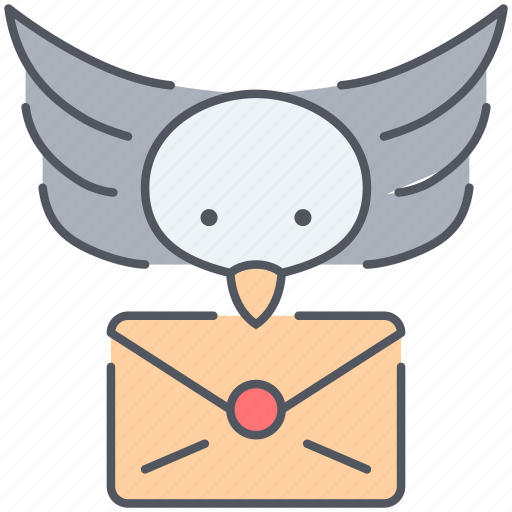 bird, communication, delivery, envelope, letter, speech icon