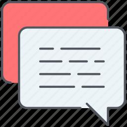bubbles, chat, communication, speech, talk icon