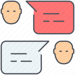 chat, communication, dialogue, speech, talk icon
