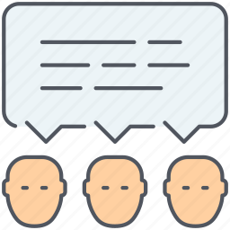 chat, communication, discussion, group chat, speech, talk icon